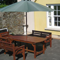 Option of al fresco dining on a sunny day